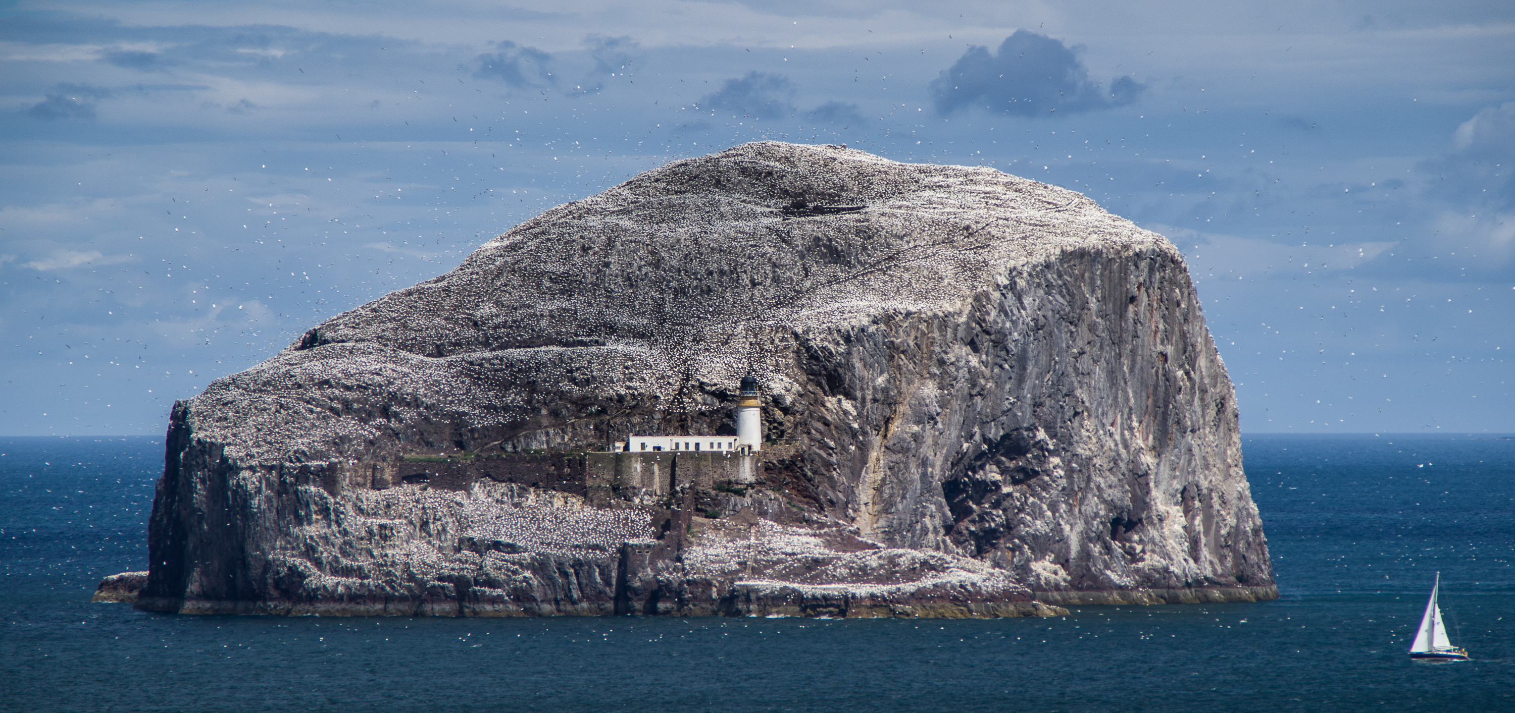 2018 Scotland 3rd prize: Bass rock lighthouse, by Ben Clarke, Wikimedia Commons CC BY-SA 4.0