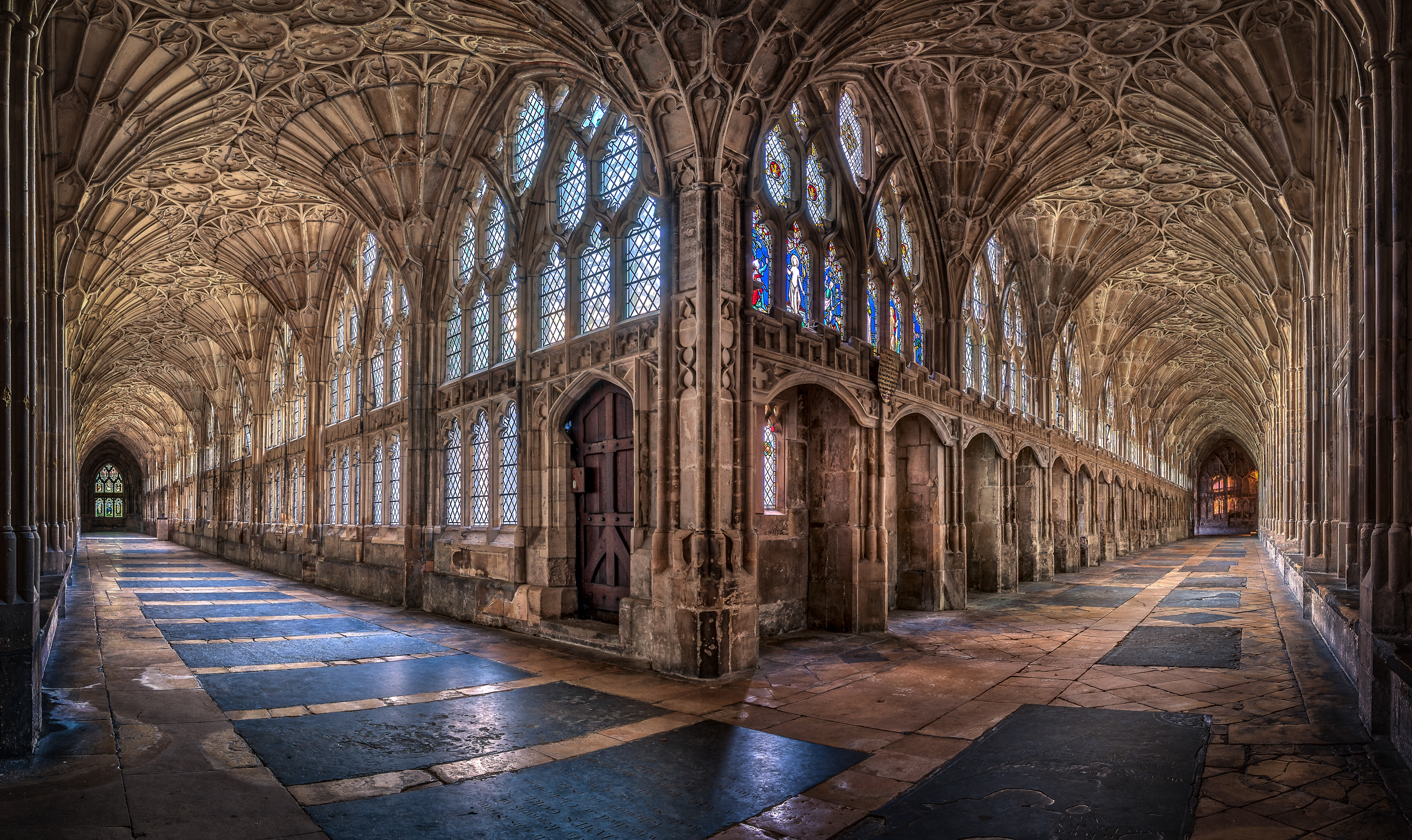 The Cloisters at Gloucester Cathedral by Christopher Cherrington