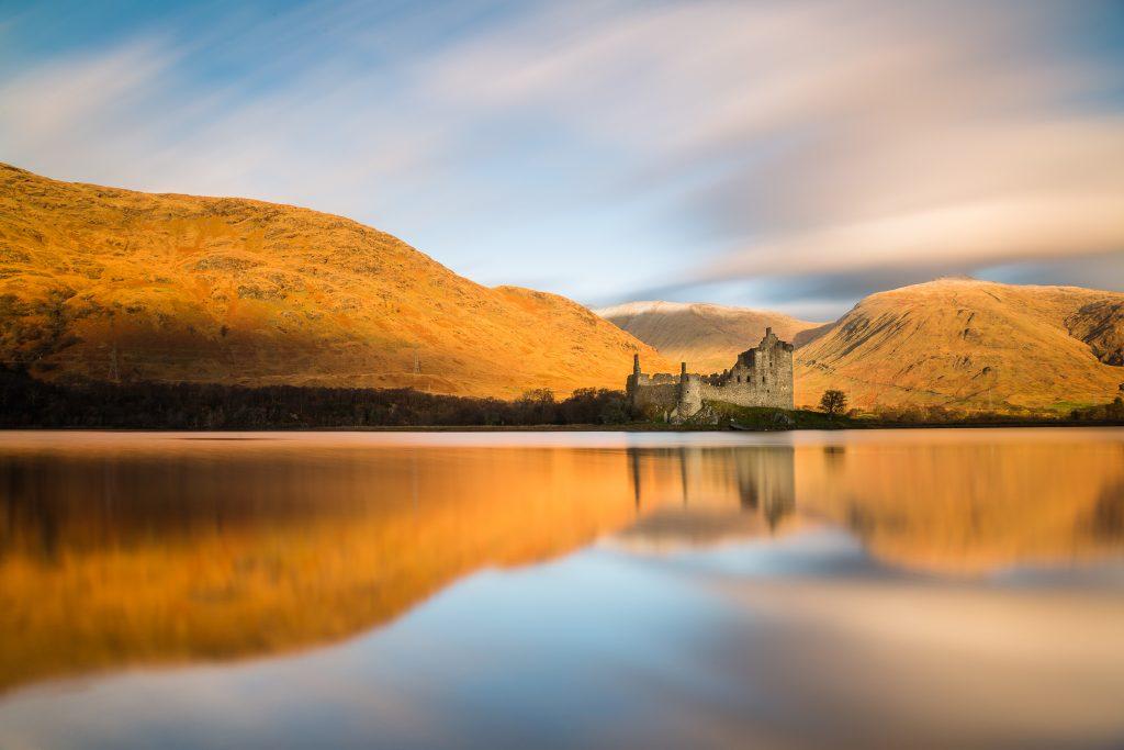 Kilchurn Castle at sunrise